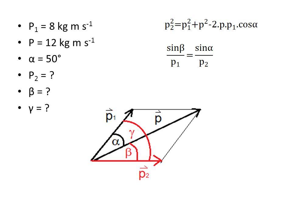 Vyjádření a vyčíslení hybnosti p 2. p 2 = 9,2 kg m s -1