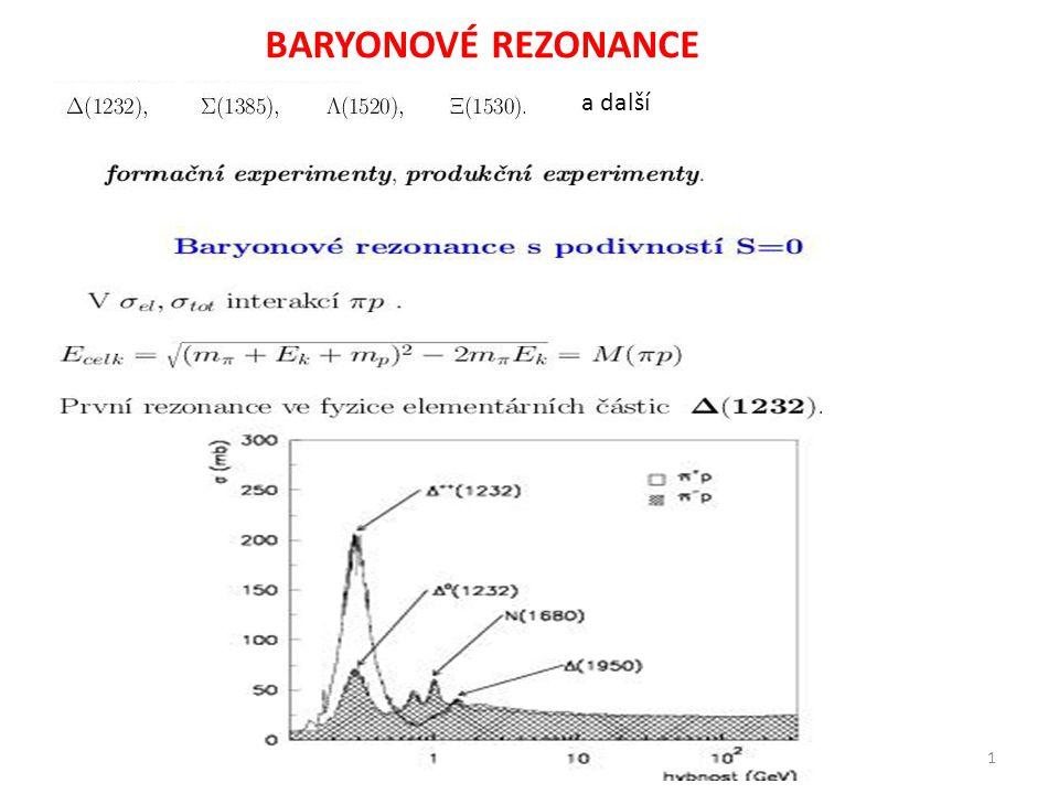 BARYONOVÉ REZONANCE a další 1