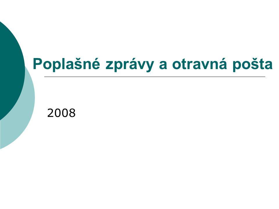 Poplašné zprávy a otravná pošta 2008