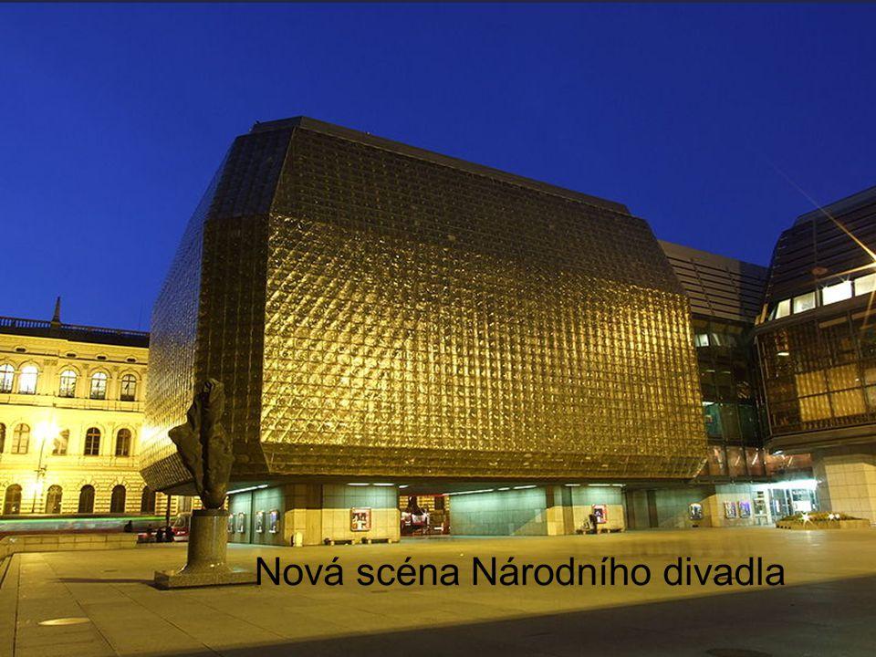 Národní divadlo Je první kamenné divadlo, kde se mohlo hrát česky Těsně před otevřením r. 1881 zcela vyhořelo Bylo postaveno r. 1883 Patří českému nár