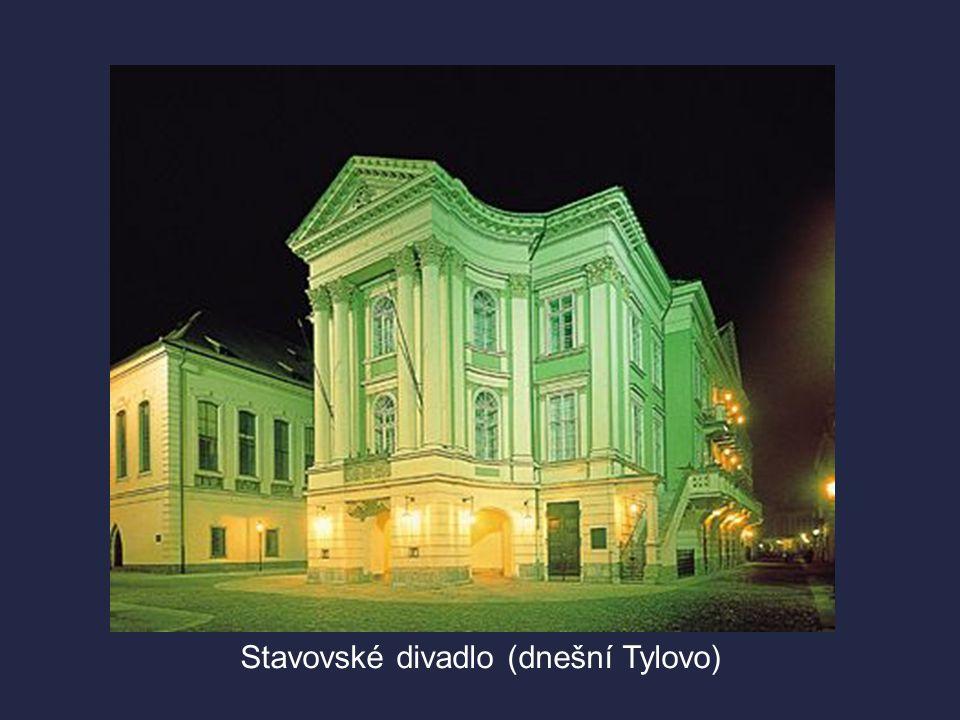  1783 – otevřeno nové Nosticovo národní divadlo (dnešní Stavovské)  Uvádělo hry především v italském a německém jazyce.  Česky se mohlo hrát pouze