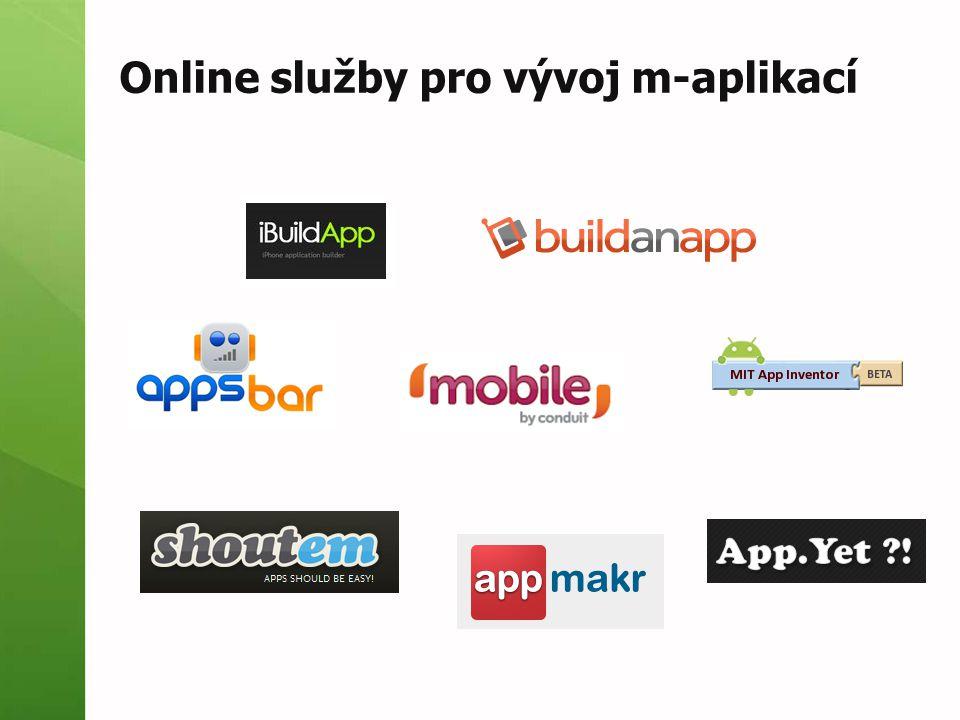 Online služby pro vývoj m-aplikací