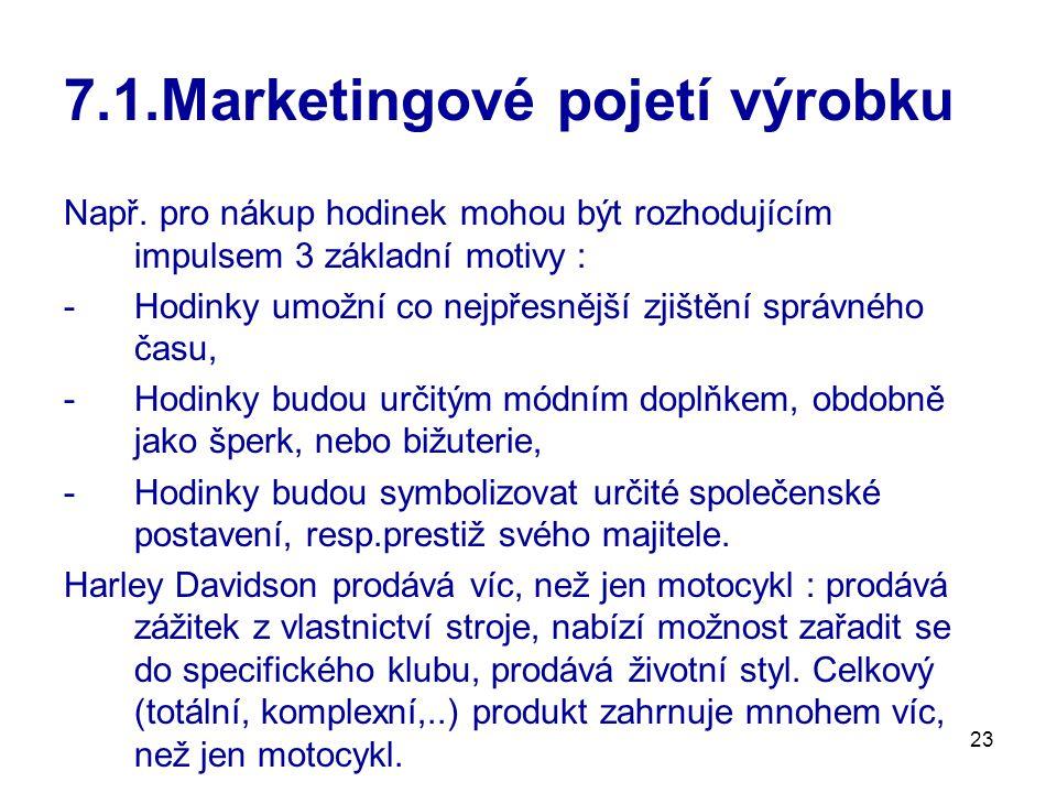 23 7.1.Marketingové pojetí výrobku Např.