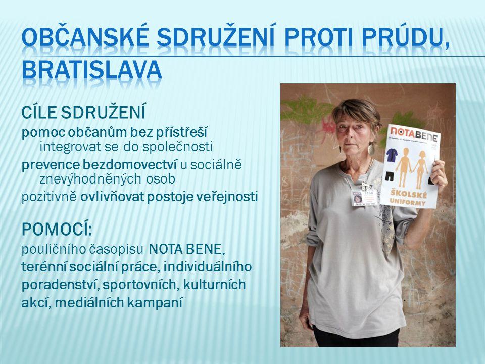 PORADENSTVÍ - poskytování sociálního poradenství - výdej časopisu NOTA BENE - registrace nových prodejců= 1.