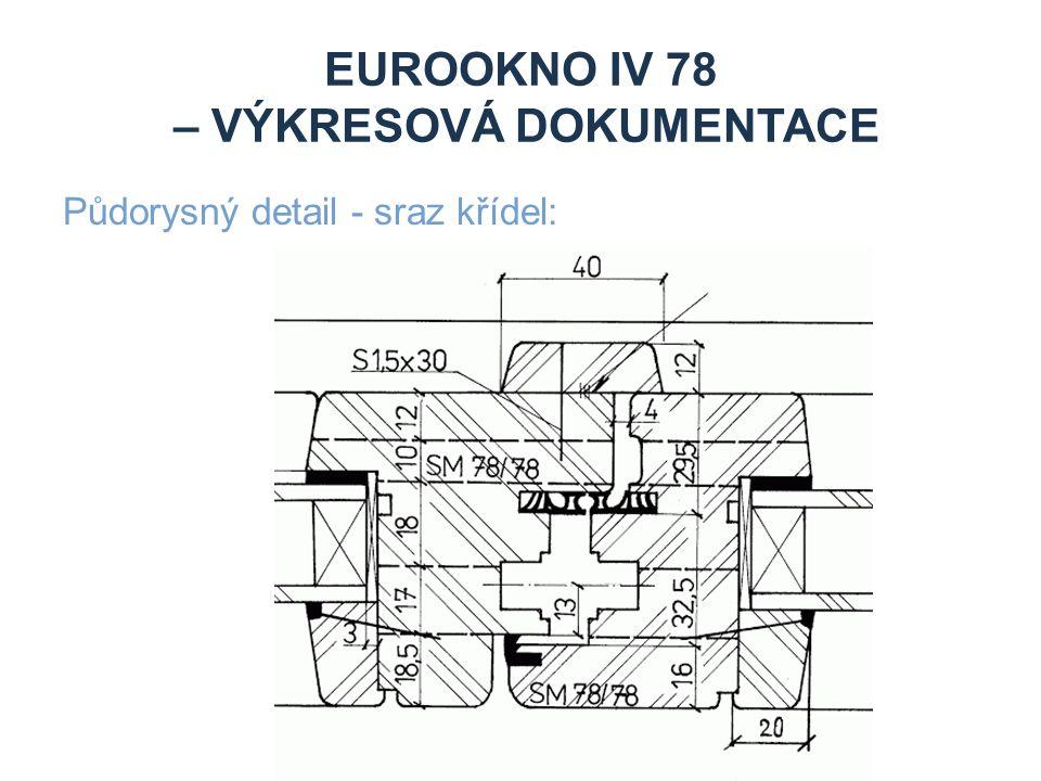EUROOKNO IV 78 – VÝKRESOVÁ DOKUMENTACE Půdorysný detail - sraz křídel: