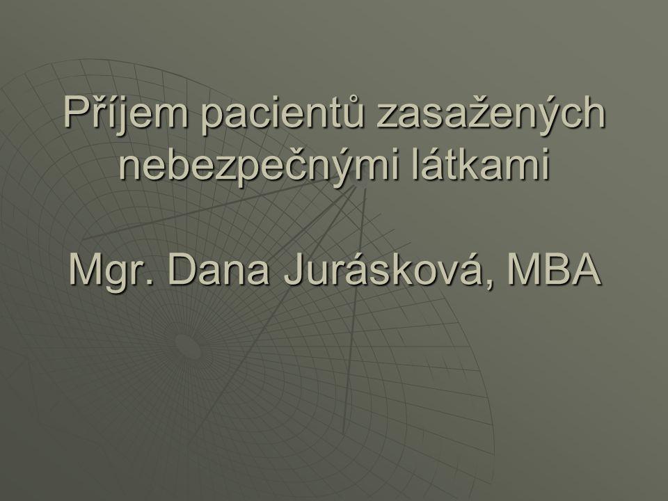Příjem pacientů zasažených nebezpečnými látkami Mgr. Dana Jurásková, MBA