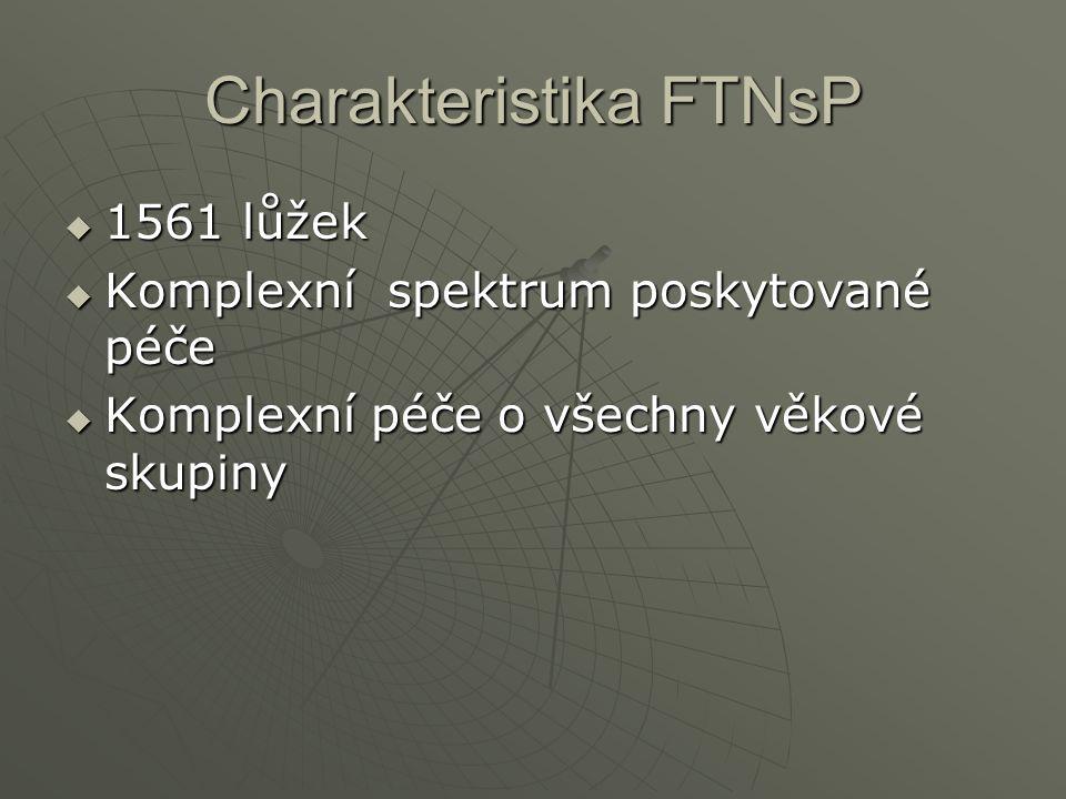 Charakteristika FTNsP  1561 lůžek  Komplexní spektrum poskytované péče  Komplexní péče o všechny věkové skupiny