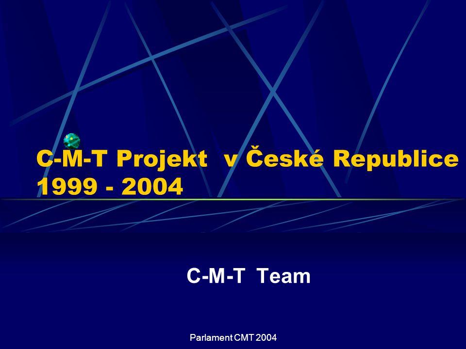 Parlament CMT 2004 C-M-T Projekt v České Republice 1999 - 2004 C-M-T Team