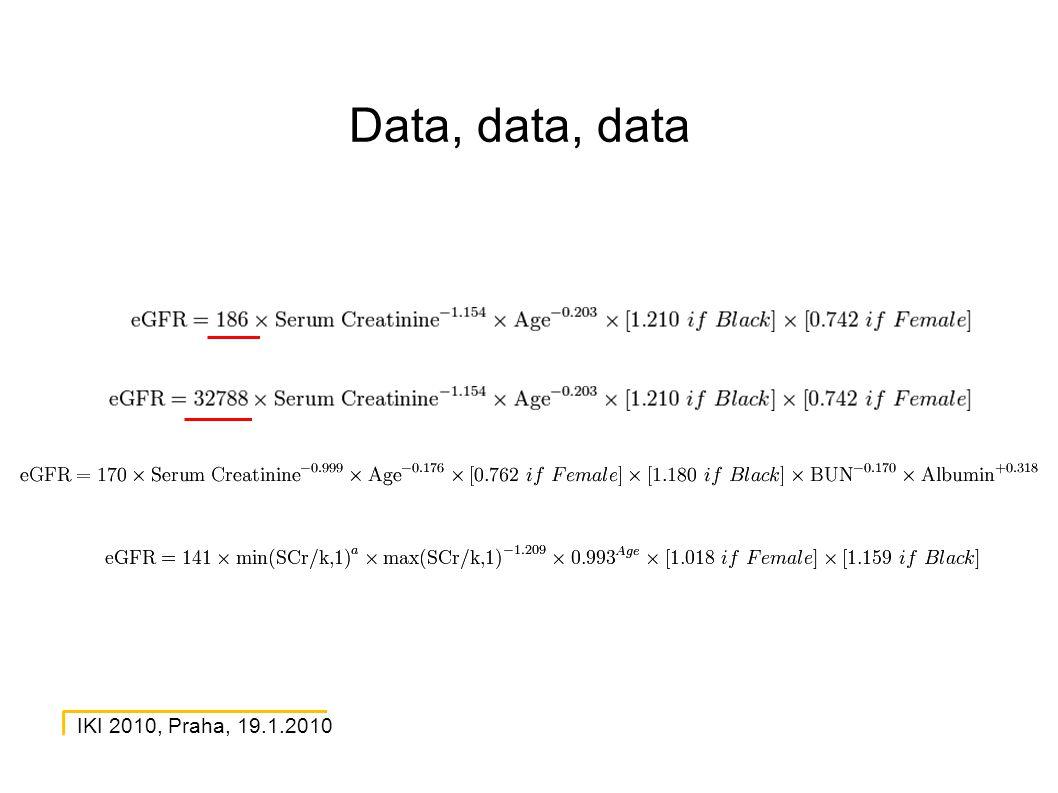 IKI 2010, Praha, 19.1.2010 Data, data, data