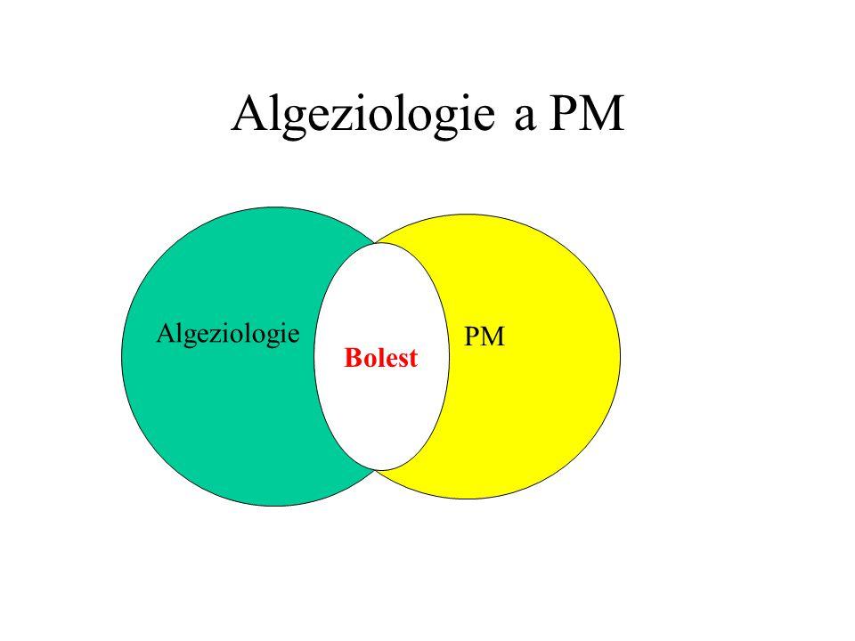Algeziologie a PM Algeziologie bolest PM Bolest