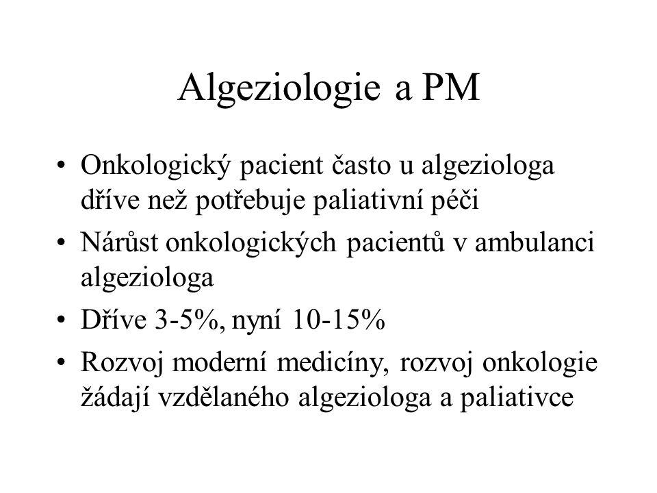 VIZE V každé nemocnici – krajské, fakultní oddělení paliativní péče 10-15 lůžek Mobilní jednotka s návštěvní službou Při ambulanci (Centru) léčby bolesti Budou se opět profilovat anesteziologové ??.