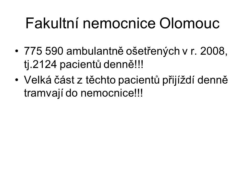 Fakultní nemocnice Olomouc 775 590 ambulantně ošetřených v r.