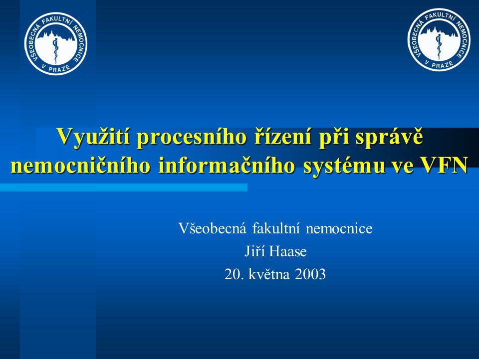 Využití procesního řízení při správě nemocničního informačního systému ve VFN Všeobecná fakultní nemocnice Jiří Haase 20.