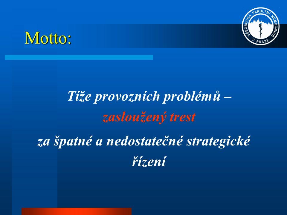 Motto: Tíže provozních problémů – zasloužený trest za špatné a nedostatečné strategické řízení