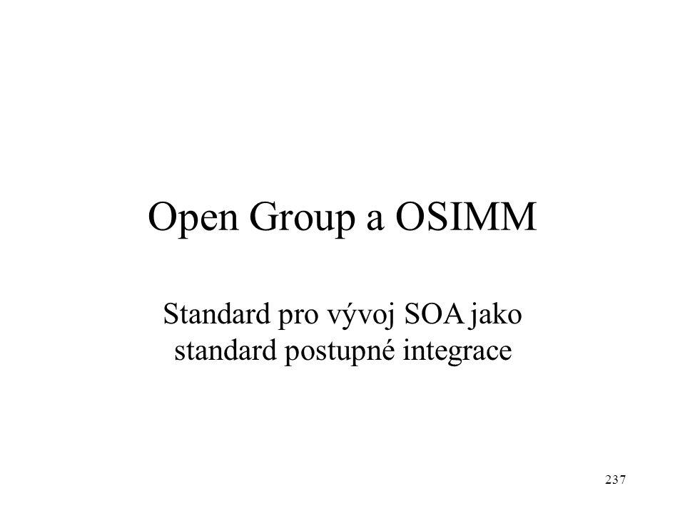 Open Group a OSIMM Standard pro vývoj SOA jako standard postupné integrace 237