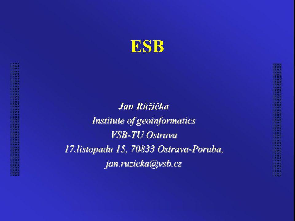 Ostrava 3.1.20052 Úvod Enterprise Service Bus Technologie Framework V plenkách
