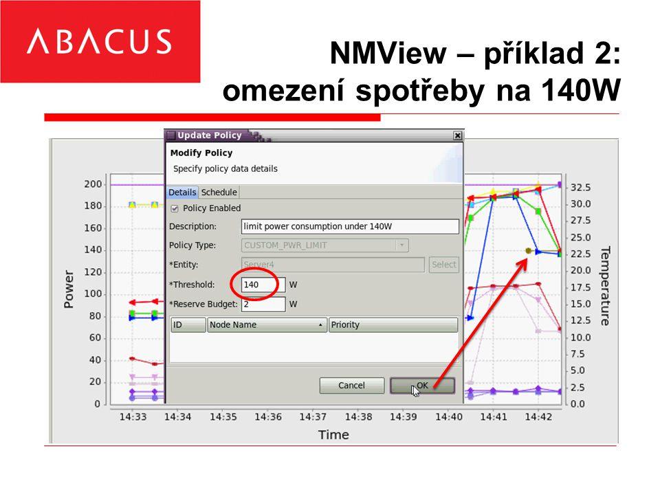 NMView – příklad 2: omezení spotřeby na 140W