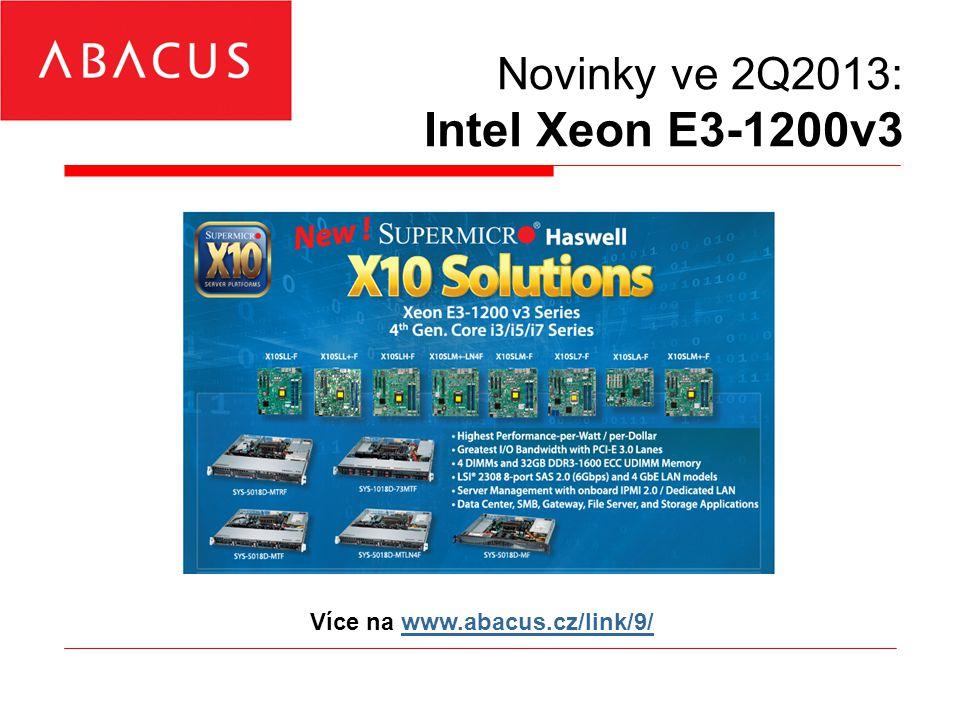Novinky ve 2Q2013: LSI Syncro CS »2× HW SAS2 RAID karty »Synchronní R&W cache »SSD R&W cache »Cluster-in-Box (CiB) nebo »2+1 box řešení »MS Windows 2008R2/2012 Více na www.abacus.cz/link/10/www.abacus.cz/link/10/