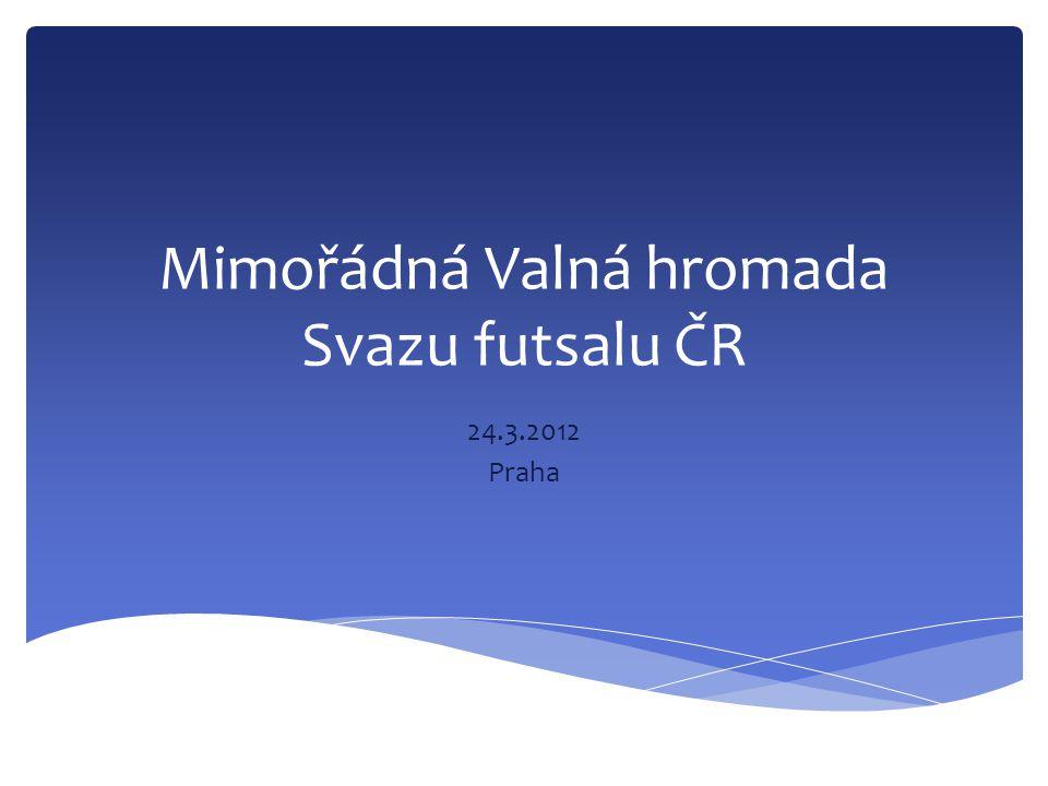 Mimořádná Valná hromada Svazu futsalu ČR 24.3.2012 Praha