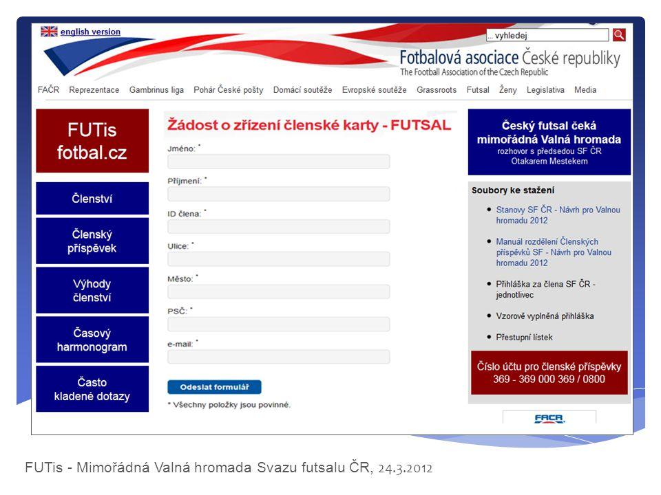 FUTis - Mimořádná Valná hromada Svazu futsalu ČR, 24.3.2012