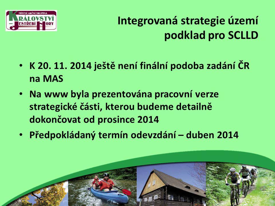 Integrovaná strategie území podklad pro SCLLD K 20.