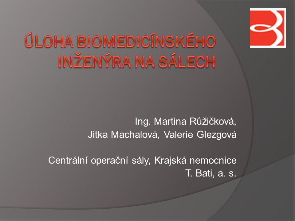 Ing. Martina Růžičková, Jitka Machalová, Valerie Glezgová Centrální operační sály, Krajská nemocnice T. Bati, a. s.