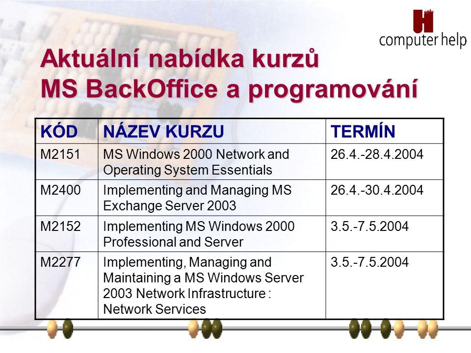 Certifikace  ECDL- průkaz počítačové gramotnosti  APTC- certifikáty pro IT profesionály –certifikáty Microsoft –ostatní certifikáty