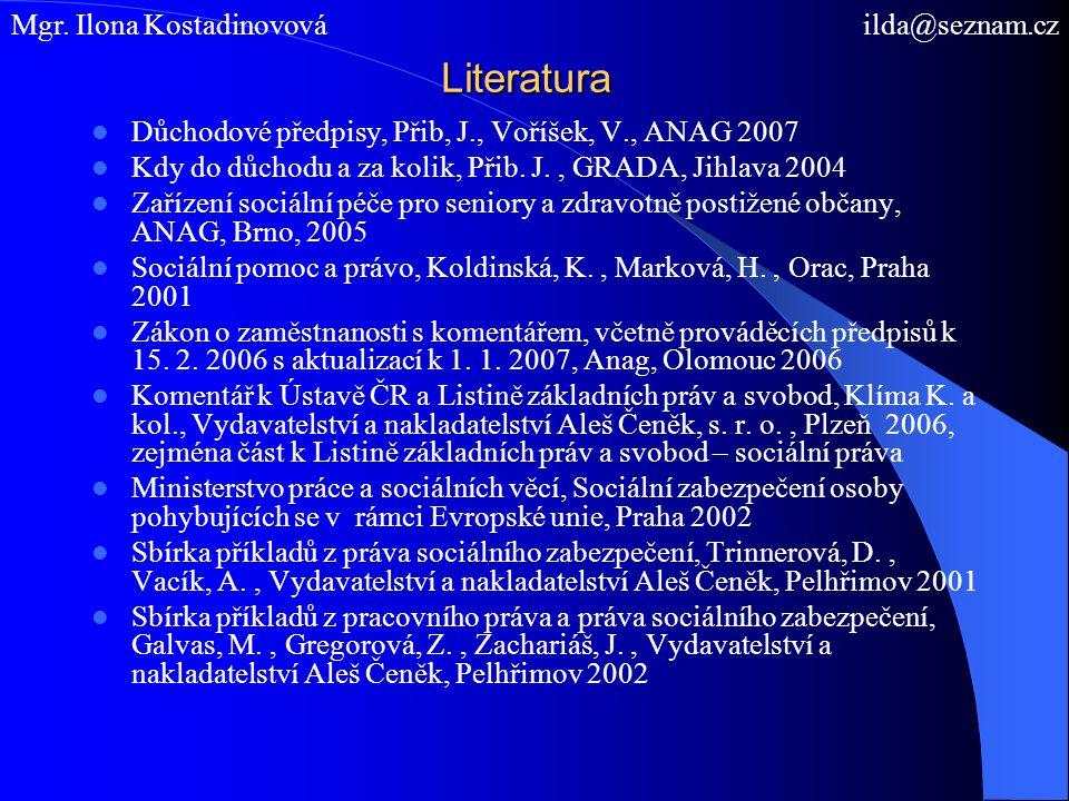 Sociální zabezpečení v ČR I.