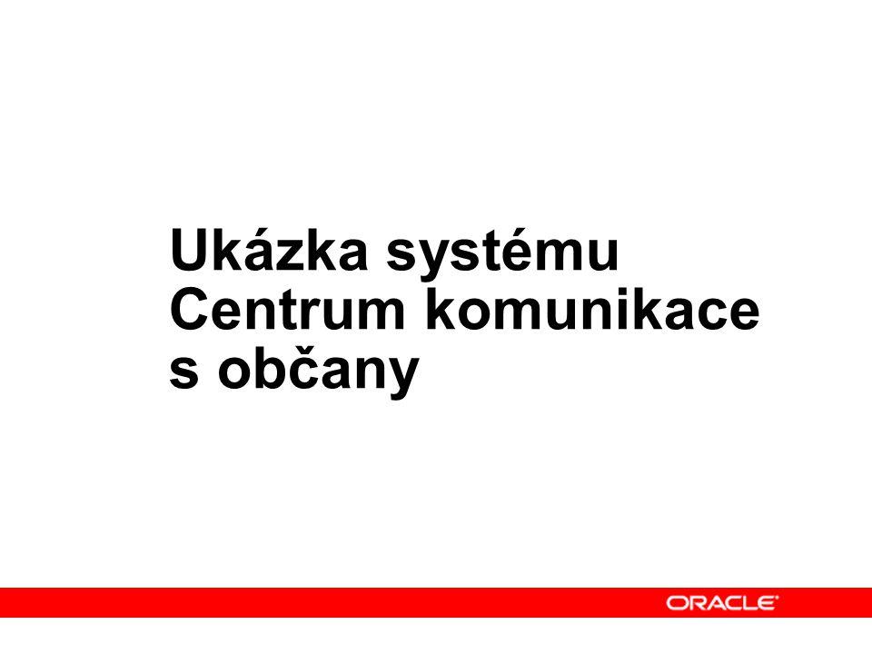 Ukázka systému Centrum komunikace s občany