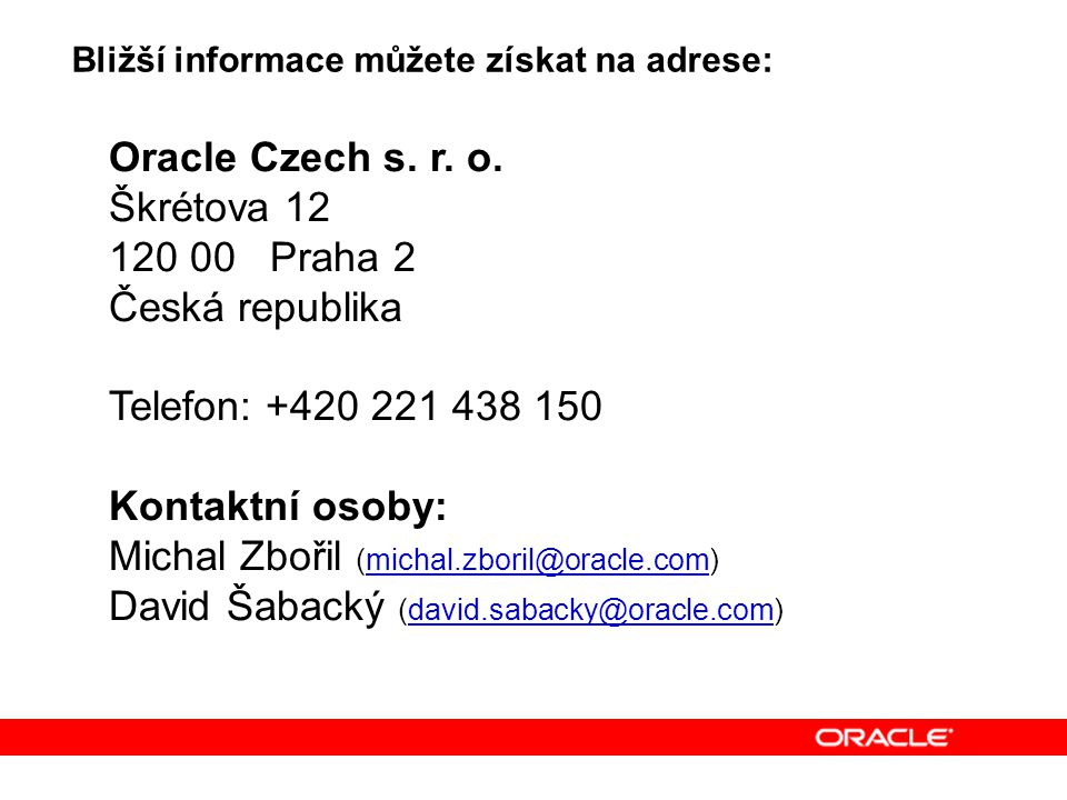 Oracle Czech s. r. o.