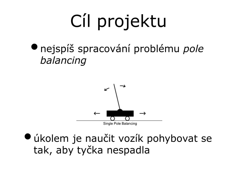 Cíl projektu nejspíš spracování problému pole balancing úkolem je naučit vozík pohybovat se tak, aby tyčka nespadla