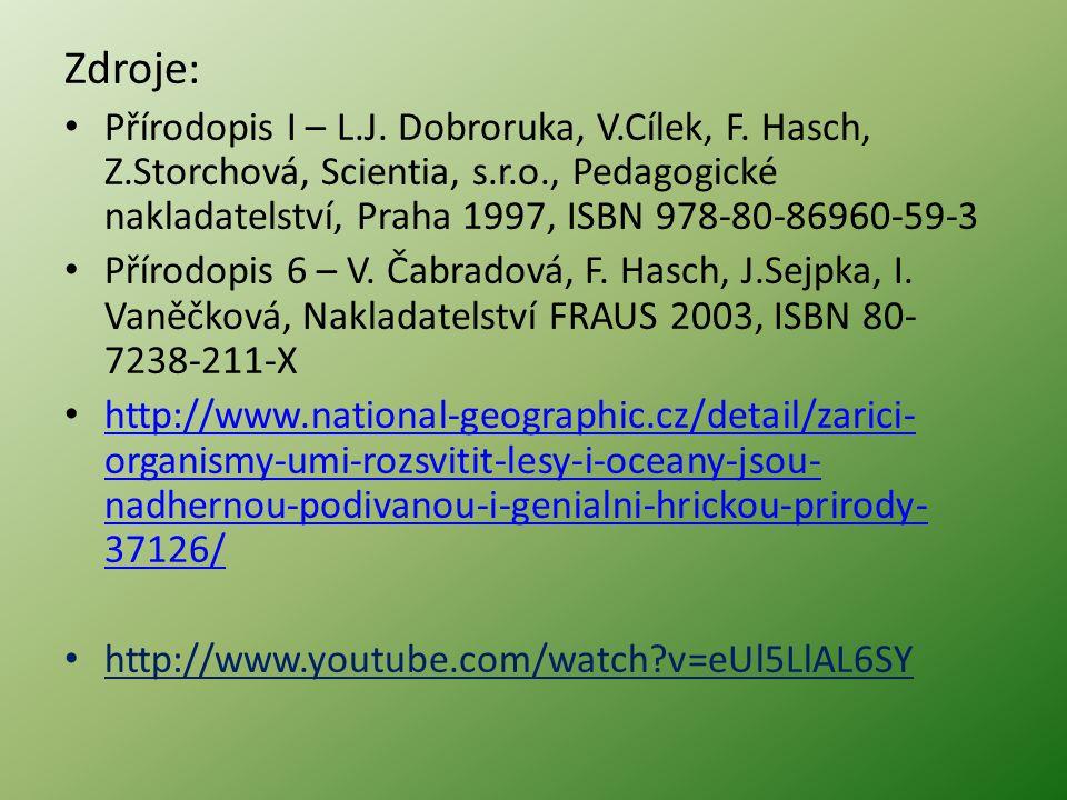 Zdroje: Přírodopis I – L.J.Dobroruka, V.Cílek, F.