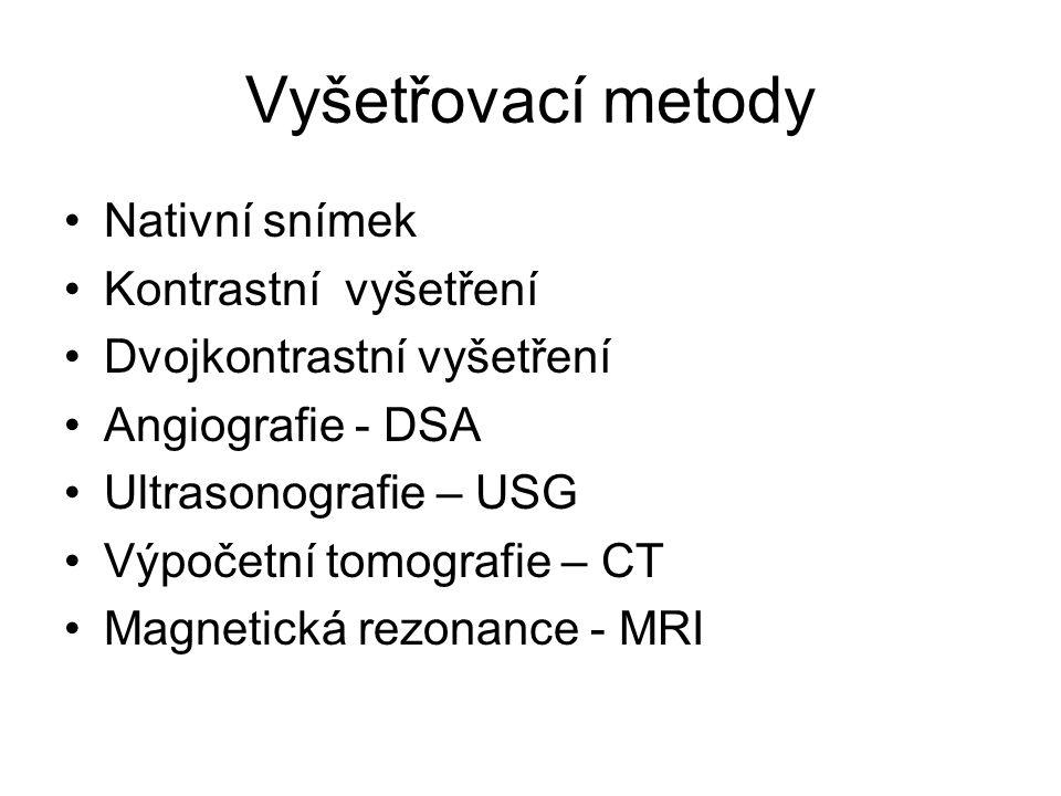 Polykací akt hypofarynx + jícen indikace: - poruchy polykání (váznutí sousta) - zvracení krátce po jídle - podezření na divertikly či hiátovou hernii - těsnost anastomózy (např.