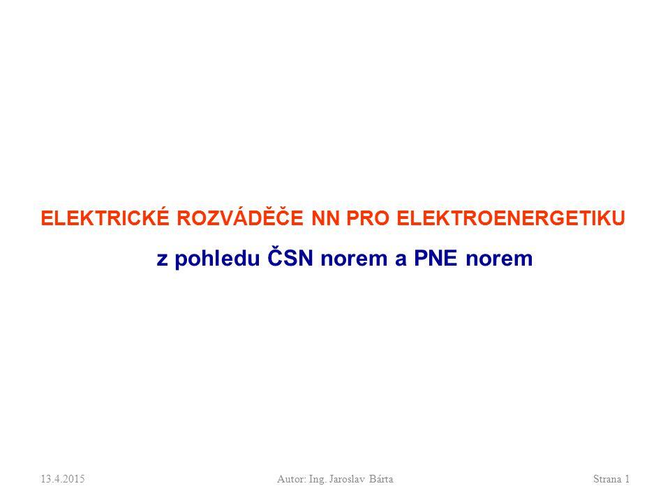Základní rozdělení Elektrické rozváděče nn se vyskytují v: Elektrických instalacích v elektrických provozovnách (elektrické stanice, rozvodny, transformovny, dozorny, elektrárny, vlastní spotřeba) Venkovním vedení nn Kabelovém vedení nn ' kabelové skříně Průmyslových a komerčních rozvoddech nn (transformovny, kabelová vedení, motory) 13.4.2015Autor:Strana 2