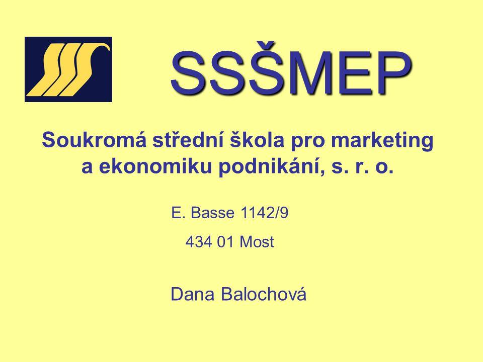 SSŠMEP Založení školy 1.9.