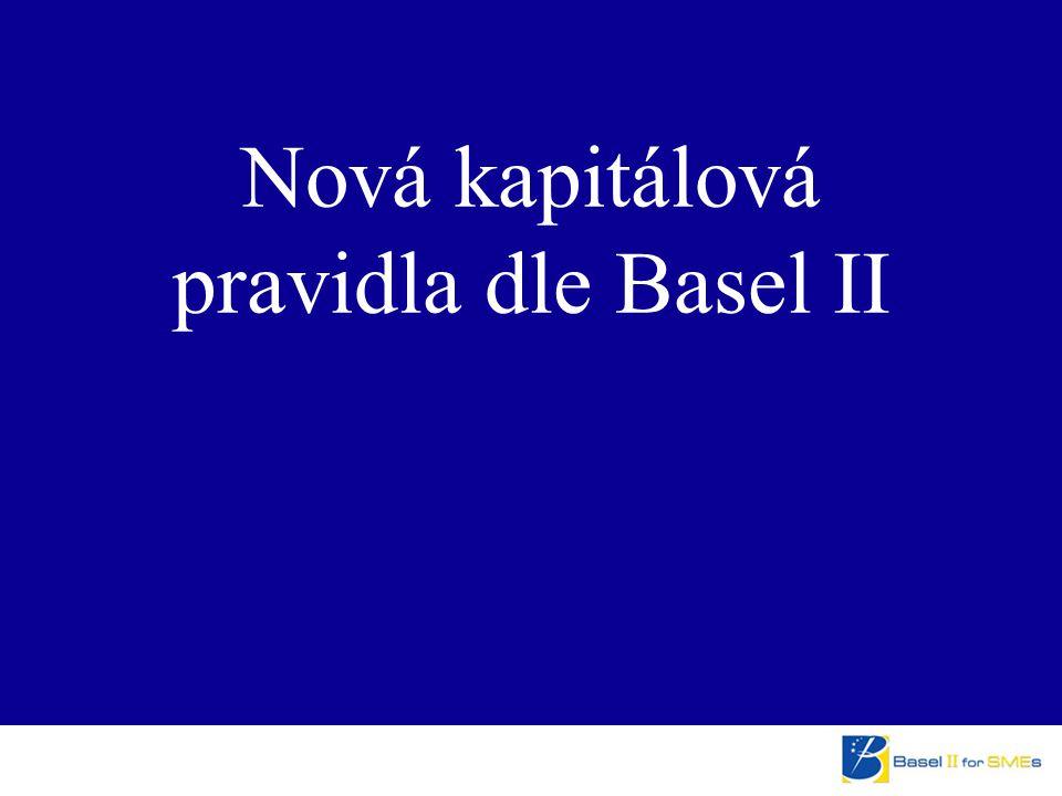 Nová kapitálová pravidla dle Basel II