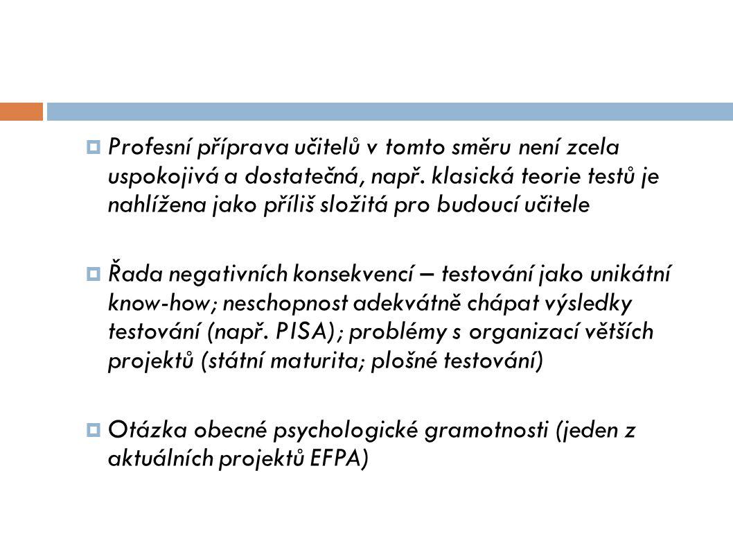 Mezioborová spolupráce  Je poměrně obtížná  Pedagogové mají jen rámcovou představu o možnostech psychologické diagnostiky Problémy s předávání kontextových informací (…)  Psychologové mají jen rámcovou představu o výuce ve škole Problémy s formulací konkrétních doporučení  Několik projektů, které problém pomáhaly řešit pod hlavičkou IPPP jako metodického a zastřešujícího pracoviště  VIP-kariéra I-III (financování ŠP na školách, vývoj metod)  SIM, CPIV (podpora inkluzivní praxe škol)  V současnosti jednotné metodické vedení chybí (IPPP sloučeno s NÚV); v návrzích legislativy supervize přisuzována řadě institucí – např.