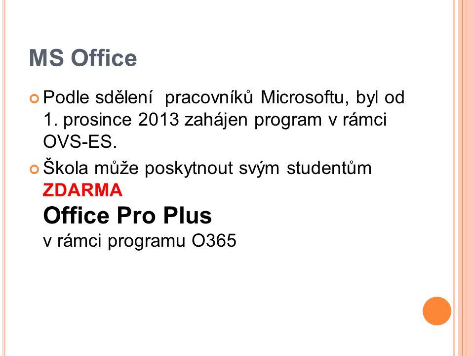 MS Office Podle sdělení pracovníků Microsoftu, byl od 1.