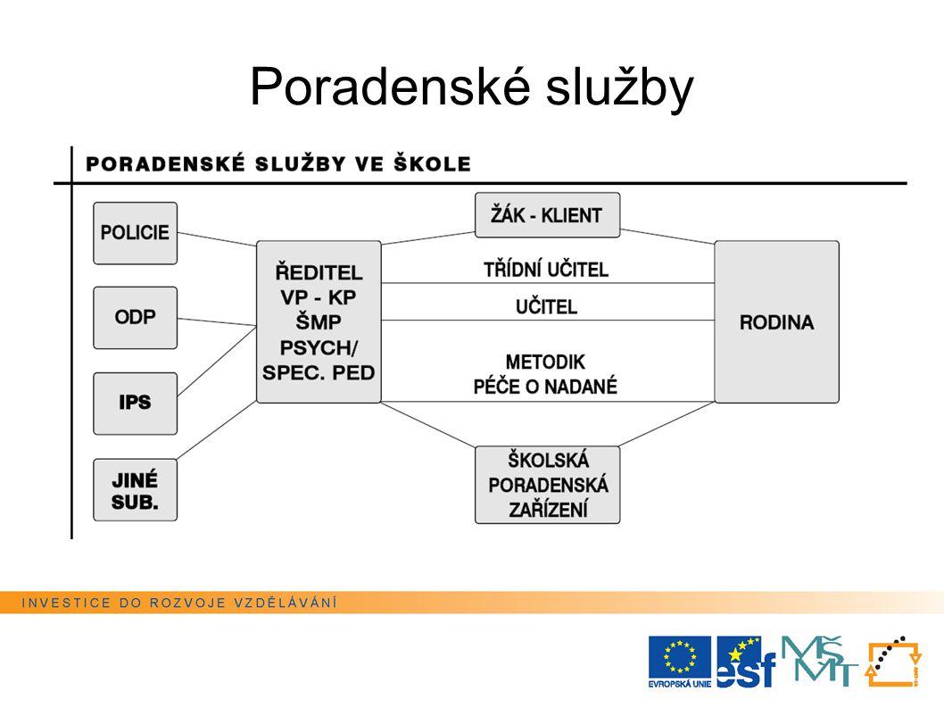 Poradenské služby Tato prezentace je spolufinancována Evropským sociálním fondem a státním rozpočtem České republiky.