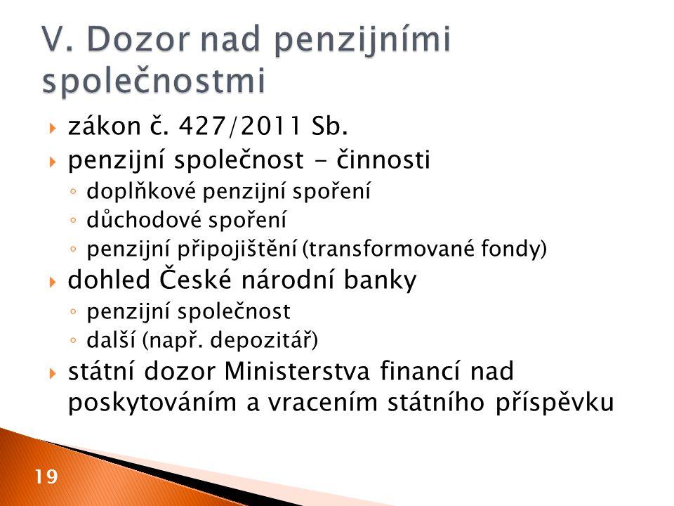  zákon č. 427/2011 Sb.