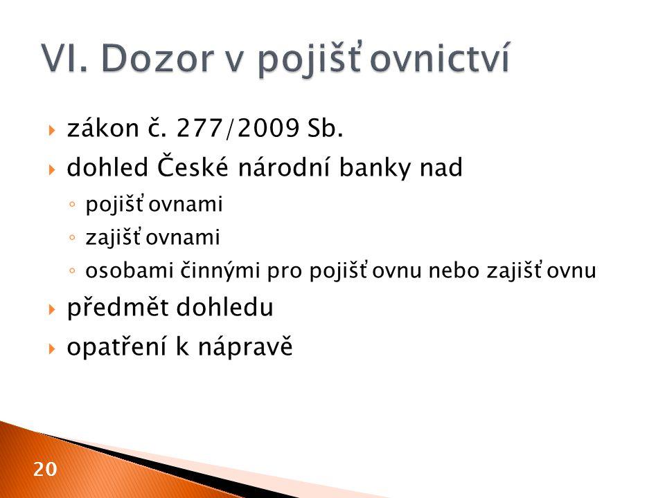  zákon č. 277/2009 Sb.