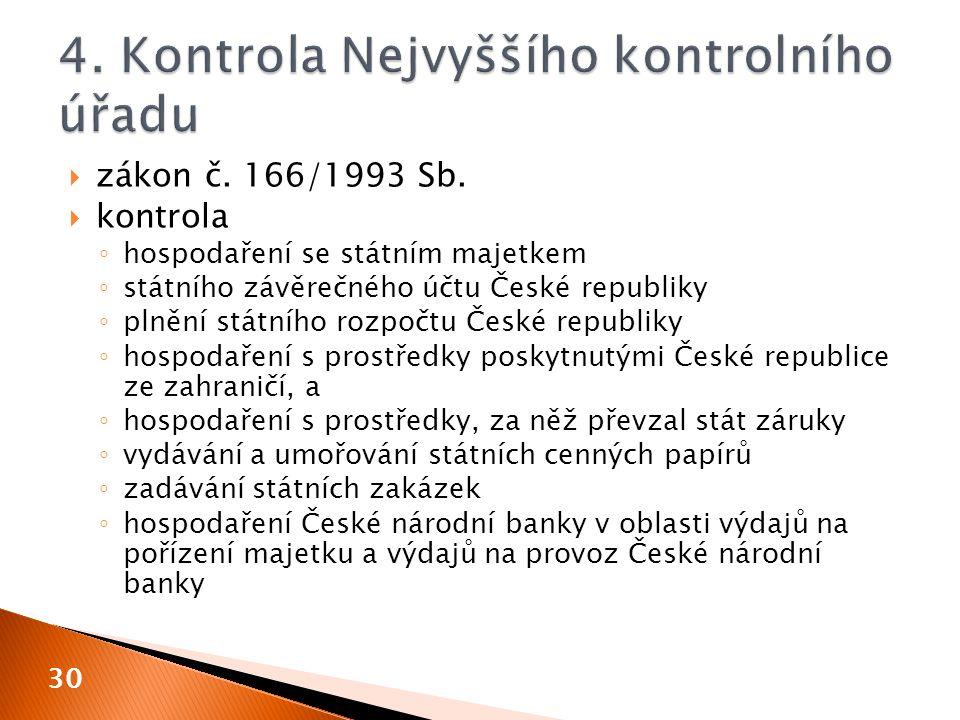  zákon č. 166/1993 Sb.