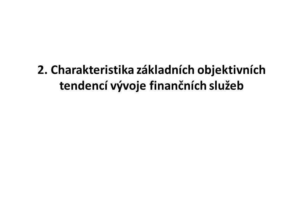 2. Charakteristika základních objektivních tendencí vývoje finančních služeb