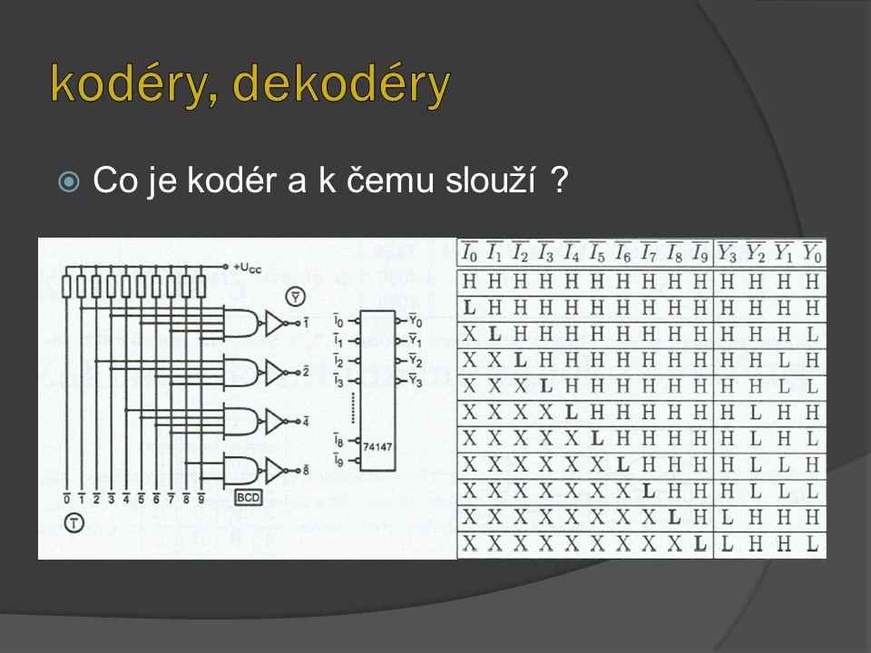  Co je kodér a k čemu slouží ?