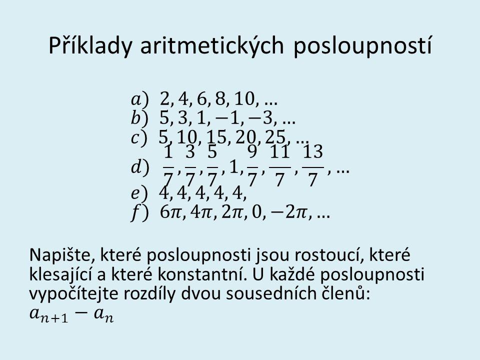 Příklady aritmetických posloupností
