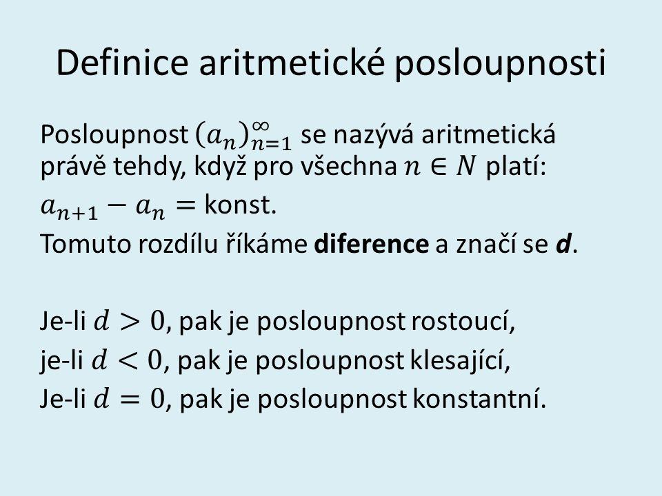 Definice aritmetické posloupnosti
