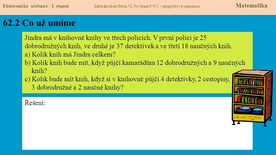 62.3 Co si řekneme nového Elektronická učebnice - I.