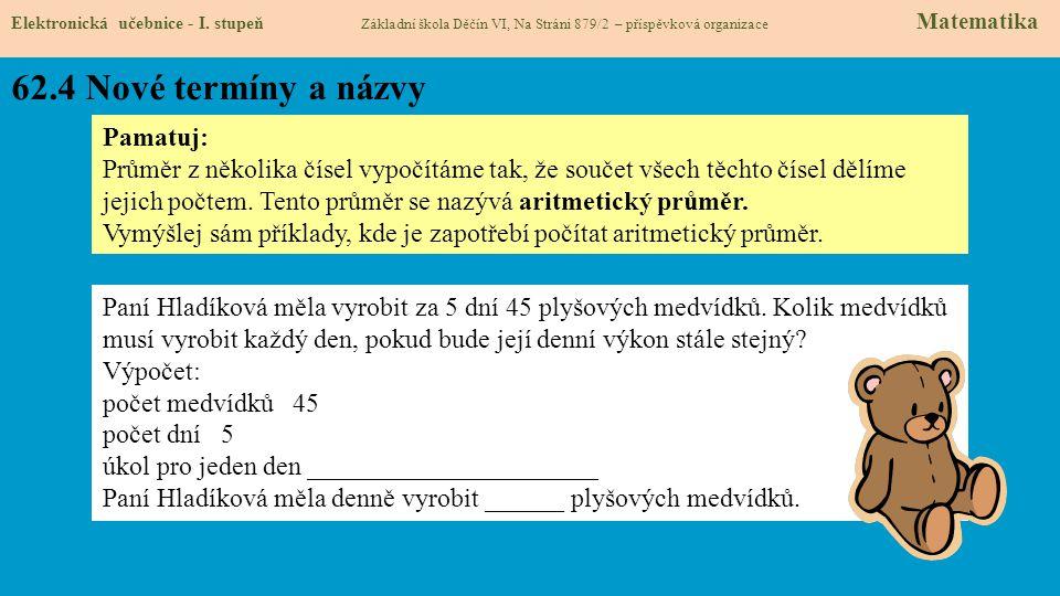 62.4 Nové termíny a názvy Elektronická učebnice - I.