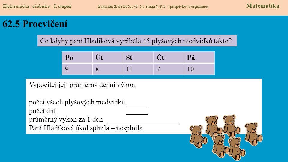 62.5 Procvičení Elektronická učebnice - I.
