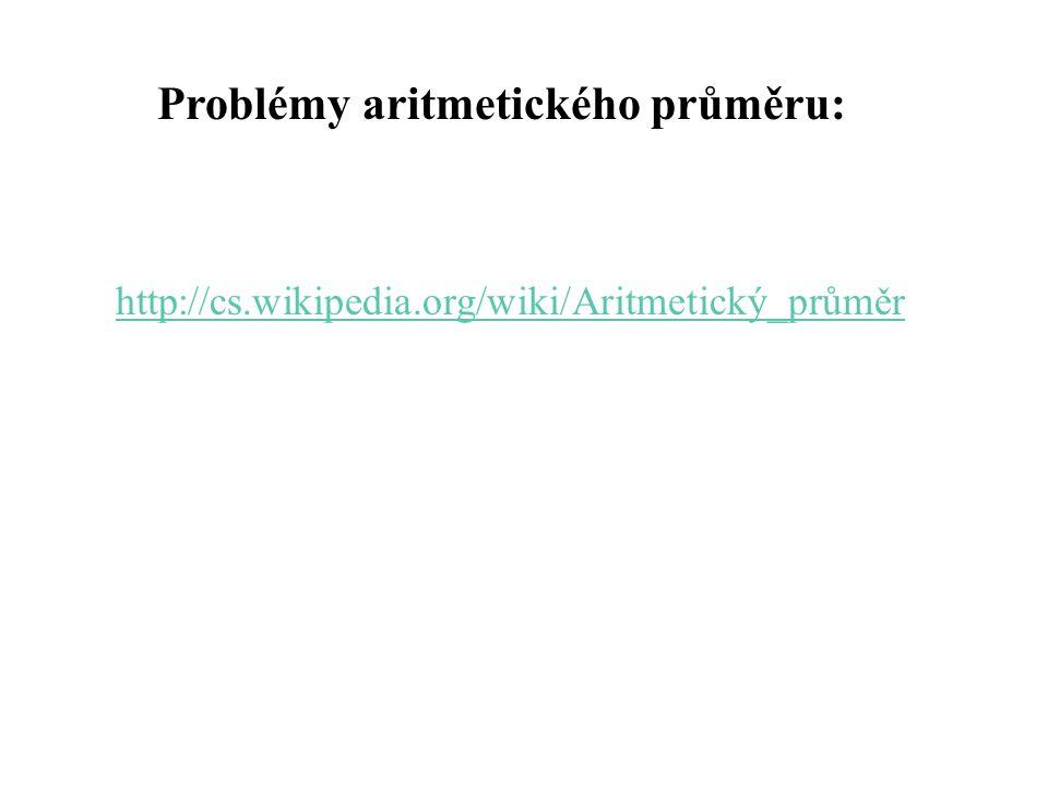 Problémy aritmetického průměru: http://cs.wikipedia.org/wiki/Aritmetický_průměr